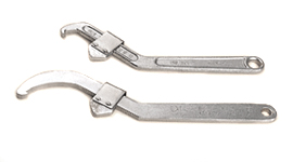 Adjustable Hook Spanner wrench